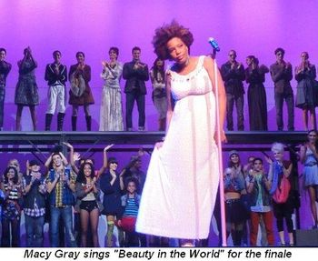 Blog 4 - Macy sings Beauty in the World for the finale