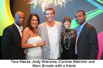 Blog 9 = Tara Klecka, Andy Wiersma, Corinne Melchior and Marc Brooks with a friend