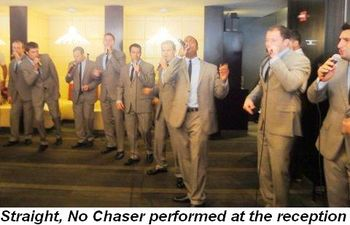 Blog 14 - Straight, No Chaser performed at the brunch reception