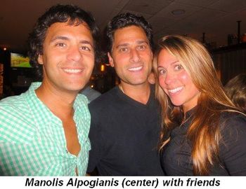 Blog 23 - Manolis Alpogianis (center) with friends