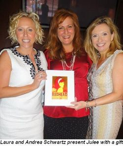 Blog 3 - Laura and Andrea Schwartz present Julee with a gift