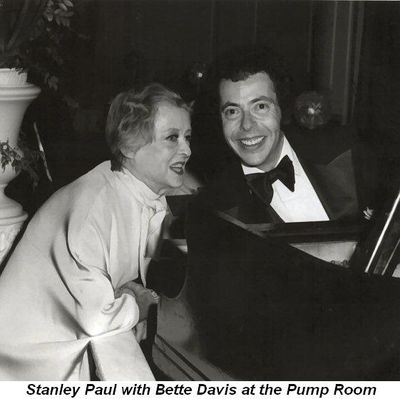 Stanley Paul with Bette Davis at the Pump Room