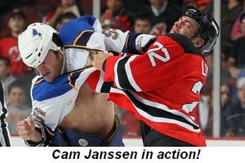 Blog 3 - Cam Janssen in action