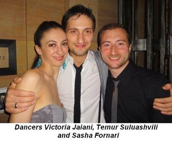 Blog 5 - Dancers Victoria Jaiani and Temur Suluashvili and Sasha Fornari