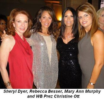 Blog 13 - Sheryl Dyer, Rebecca Besser, Mary Ann Murphy and WB Prez Christine Ott