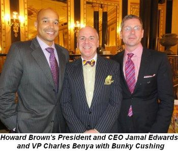 Blog 3 - Howard Brown's President and CEO, Jamal Edwards, and VP Charles Benya with Bunky Cushing