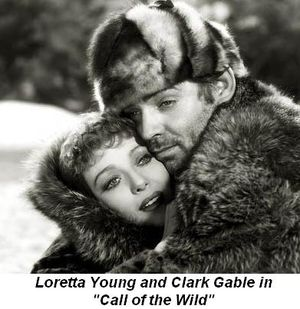 Blog 4 - Loretta Young and Clark Gable in the movie Call of the Wild