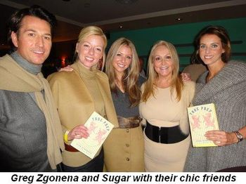 Blog 6 - Greg Zgonena and Sugar with chic friends