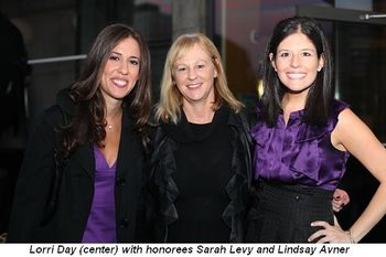 Blog 4 - Honorees Sarah Levy and Lindsay Avner with Lorri Day (center)