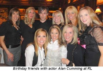 Birthday friends with actor Alan Cumming at RL