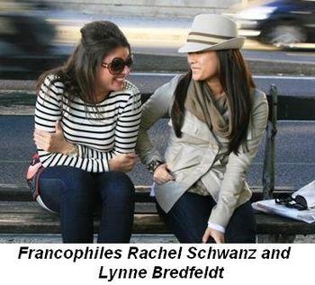 Francophiles Rachel Schwanz and Lynne Bredfeldt