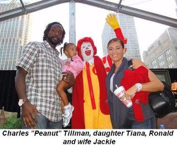 "Blog 2 - Charles ""Peanut"" Tillman, daughter Tiana, Ronald and wife Jackie"