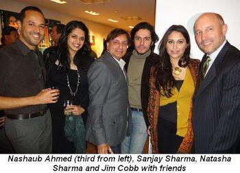 Blog 6 - Naushab Ahmed (3rd from L), Sanjay Sharma, Natasha Sharma and Jimm Cobb