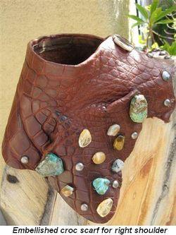 Blog 4 - Embellished croc scarf for right shoulder