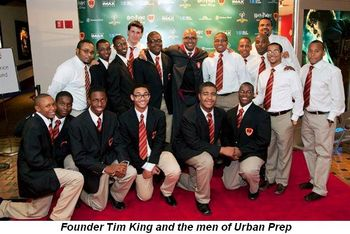 Blog 1 - Founder Tim King and the men of Urban Prep