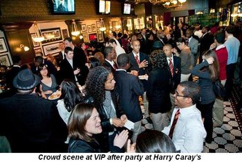 Blog 10 - Crowd scene at VIP after-party at Harry Caray's