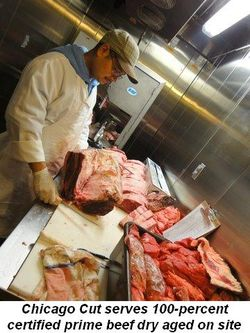 Blog 9 - Chicago Cut serves 100-percent certified prime beef dry aged onsite