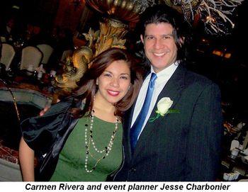 Blog 3 - Carmen Rivera and event planner Jesse Charbonier