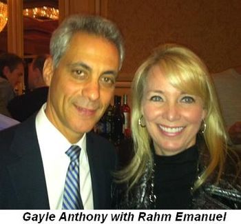 Blog 8 - Gayle Anthony with Mayoral hopeful Rahm Emanuel
