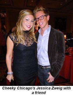 Blog 10 - Cheeky Chicago's Jessica Zweig and friend James Goeke