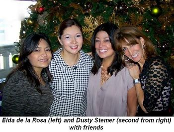 Blog 5 - Elda de la Rosa (L) and Dusty Stemer (2nd from R) with friends