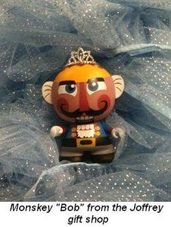 "Blog 3 - Monskey ""Bob"" from Joffrey gift shop"