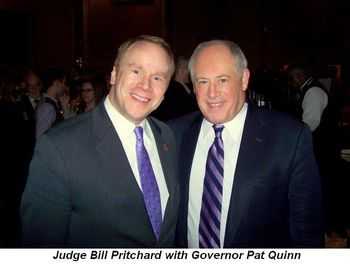 Blog 7 - Judge Bill Pritchard with Governor Pat Quinn
