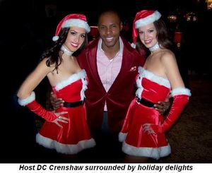 Blog 1 - Host DC Crenshaw surrounded with holiday delights