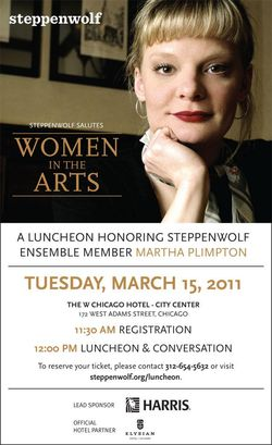 Steppenwolf Martha Plimpton Luncheon 3-15-10