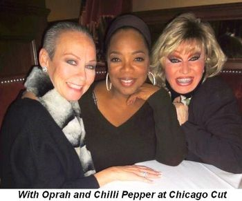 Blog 3 - With Oprah and Chilli Pepper at Chicago Cut