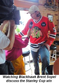 Blog 13 - Watching Blackhawk Brent Sopel discuss the Stanley Cup win