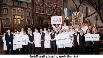 Blog 1 - Nomi staff showing their thanks!