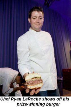 Blog 2 - Chef Ryan LaRoche shows off his prize winning burger