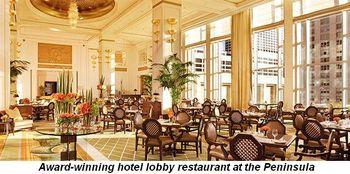 Blog 3 - Award winning hotel lobby restaurant at the Peninsula