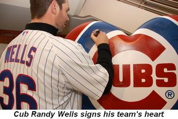 Blog 3 - Cub Randy Wells signs his team's heart