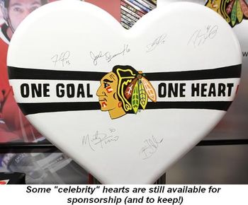 "Blog 4 - Some ""celebrity"" hearts are still available for sponsorship (and to keep!)"