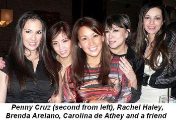 Blog 8 - Penny Cruz (2nd from L), Rachel Haley, Brenda Arelano, Carolina de Athey and friend