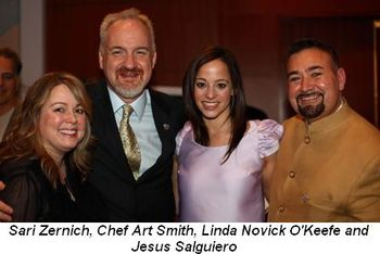 Blog 2 - Sari Zernich, Chef Art Smith, Linda Novick O'Keefe and Jesus Salguiero