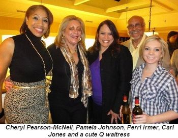 Blog 2 - Cheryl Pearson-McNeil, Pamela Johnson, Perri Irmer, Carl Jones and cute Q waitress