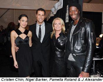 Blog 2 - Cristen Chin, Nigel Barker, Pamella Roland, J Alexander