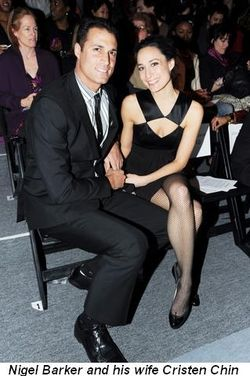 Blog 10 - Nigel Barker and his wife Cristen Chin