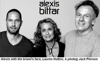 Blog 3 - Alexis with the brand's face, Lauren Hutton, and photog Jack Pierson