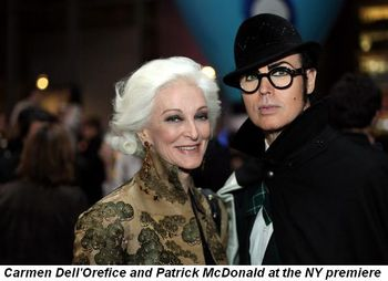 Blog 2 - Carmen Dell'Orefice and Patrick McDonald at NY premiere