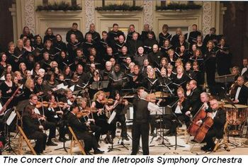 Blog 2 - The Concert Choir and the Metropolis Symphony Orchestra