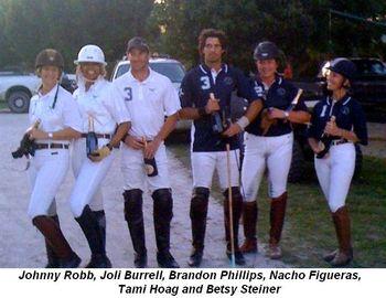 Blog 1 - Johnny Robb, Joli Burrell, Brandon Phillips, Nacho Figueras, Tami Hoag and Betsy Steiner