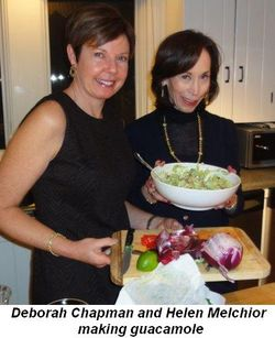 Blog 2 - Deborah Chapman and Helen Melchior making guacamole