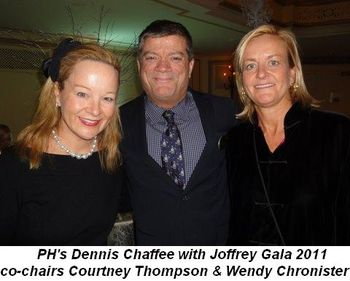 Blog 4 - PH's Dennis Chaffee with Joffrey Gala 2011 Co-Chairs Courtney Thompson and Wendy Chronister