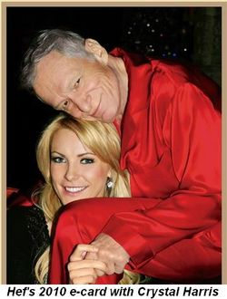 Blog 4 - Hef's 2010 ecard with Crystal Harris (Miss Dec. 2009)