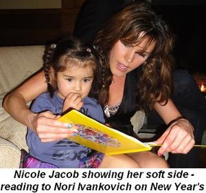 Blog 4 - Nicole Jacob showing her soft side—reading to Nori Ivankovich on New Year's