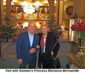 Blog 3 - Ken Norgan with Sweden's Princess Marianne Bernadotte